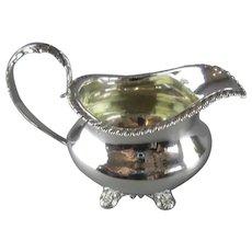 Sterling Silver Cream Jug Antique Regency 1834