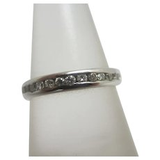 Platinum & Diamond Eternity Ring Vintage c1980