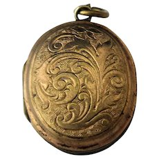 9ct Gold Back and Front Memorial Locket Antique c1900