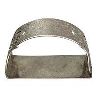 Sterling Silver Napkin Ring Sheffield Vintage Art Deco 1928