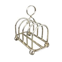 5 Bar Sterling Silver Toast Rack Vintage Sheffield Art Deco 1931