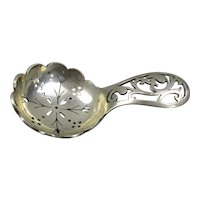 Sterling Silver Tea Caddy Sifter Spoon Vintage Sheffield 1944