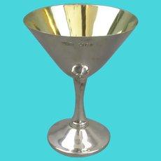 Sterling Silver Cocktail Martini Goblet Vintage London 1978