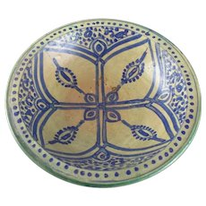 Faience Earthenware Bowl Antique Late 19th Century