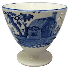 Small Antique Blue & White Vase Urn Early 19th Century