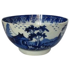 Ceramic Pearlware Blue & White Bowl Antique Georgian c.1790