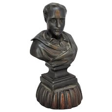Small Vintage Spelter Bust of Lord Byron.