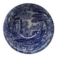 Italian Blue & White Spode Bowl Vintage 20th Century.
