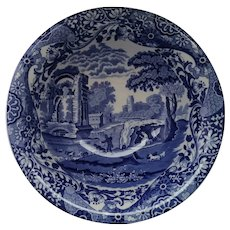 Italian Blue & White Spode Bowl Vintage 20th Century.