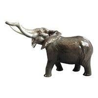Large Beswick Ceramic Elephant Vintage C1960.