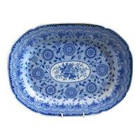 Rare Blue And White Ceramic Meat Plate Antique Georgian C1820.