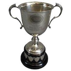 Silver Plated 'MacKenzie Challenge' Golf Trophy Vintage c1957
