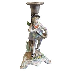 Continental Porcelain Figure Candlestick Antique mid 19th Century