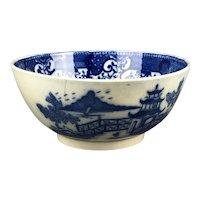 Swansea Pottery Blue White Bowl Antique Victorian c1900