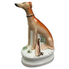 Staffordshire Deer Dog Greyhound And Hare Figurine Antique Victorian c1840