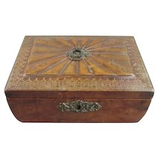Leather Covered Antique Regency Box c1820