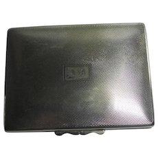 English Silver Plate Gentleman's Box by R&D Ltd Vintage Art Deco c1930