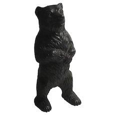Standing Iron Bear Money Box Antique Victorian c1890