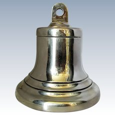 English Sterling Silver Bell Shaped Inkwell Birmingham 1928
