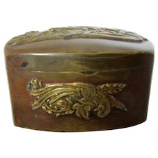 Japanese Bronze Snuff or Pill Box Vintage