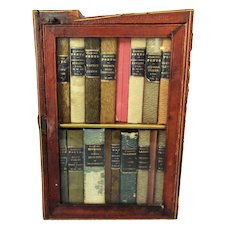 Travelling Classic Library in Box Antique Victorian c1850s