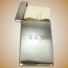 Antique Sterling Silver Card Case Birmingham c1901.