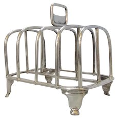 Antique Edwardian Sterling Silver Toast Rack by CS Harris & Sons London c1905.