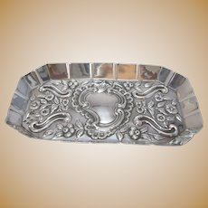English Sterling Silver Miniature Tray Antique c.1889.