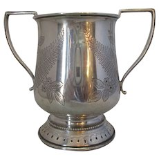 English Silver Two Handled Tankard Antique c.1873.