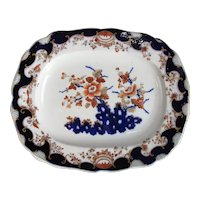 Chamberlains Worcester Larger Meat Platter Antique Mid 19th Century