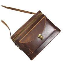 Leather Cine Camera Case Vintage c1950
