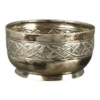 Sterling Silver Arts & Crafts Bowl Antique Victorian Sheffield c1901