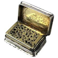 Georgian Sterling Silver Vinaigrette Box By Thomas Spicer English Antique Birmingham c1830