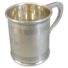 Small Sterling Silver Tankard Mug Vintage Birmingham c1929