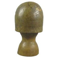 Solid Wood Hat Block Vintage c1940
