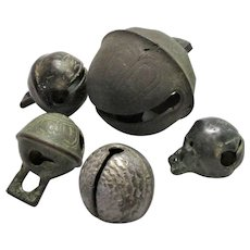 Group of Antique Crotal Bells  Rattles 15th-19th Centuries