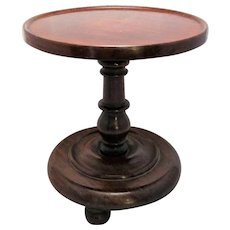 Antique Victorian Rosewood Turned Candle Stand c.1840s