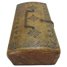 Leather Casket Or Box Antique 18th Century Georgian