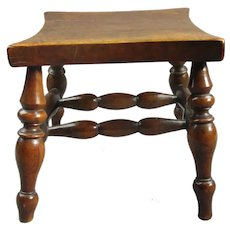 Fruitwood Low stool Or Stand Nottinghamshire Antique Georgian C1820-1840.