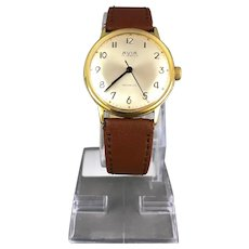 AVIA Gold Plated Unisex Wristwatch Vintage Mid Century c1960