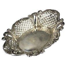 Sterling Silver Bon Bon Dish By Greenwell Antique Art Nouveau Sheffield 1903