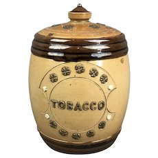 Royal Doulton English Pottery Tobacco Jar Vintage