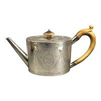 Sterling Silver Tea Pot Antique Georgian Sheffield 1828