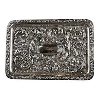 Sterling Silver Calling Card Tray Robert Pringle And Sons London Antique Edwardian c1909