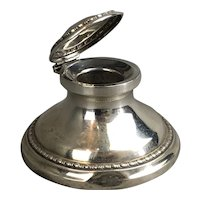 Sterling Silver Inkwell Antique Edwardian Birmingham 1910