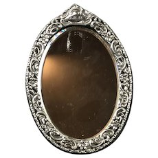 Sterling SIlver Free Standing Mirror Antique Victorian Birmingham c1900