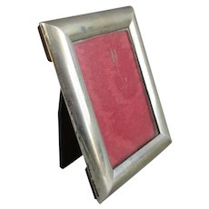 Small Sterling Silver Photograph Frame Vintage c1982