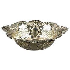 Sterling Silver Bon Bon Dish Chester Antique Art Nouveau c1911
