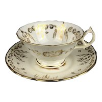 Porcelain Coffee Cup & Saucer Continental Antique Georgian c1840