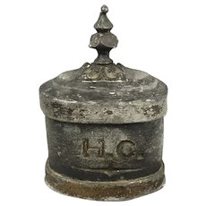 Early English Lead Tobacco Jar With Lid Antique Georgian c1750